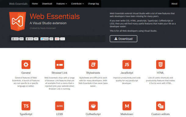 Web Essentials for Visual Studio